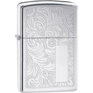 Zippo High Polished Chrome Venetian Pocket Lighter