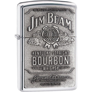 Zippo Jim Beam Pewter Emblem Pocket Lighter