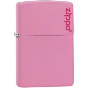 Zippo Logo Matte Pocket Lighter - Pink