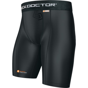 Shock Doctor Core Compression Shorts with Athletic Cup Pocket - Black