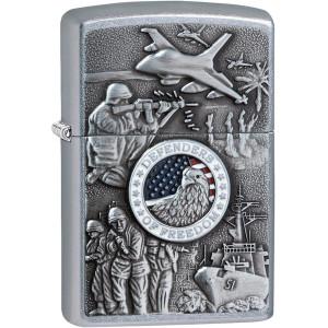Zippo Joined Forces Emblem Pocket Lighter
