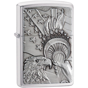 Zippo Something Patriotic Emblem Pocket Lighter