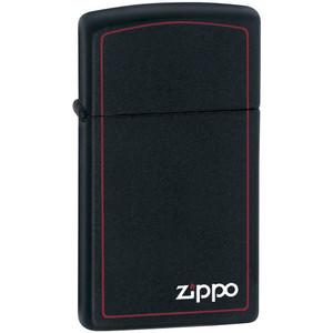 Zippo Slim Black Matte with Red Border Pocket Lighter