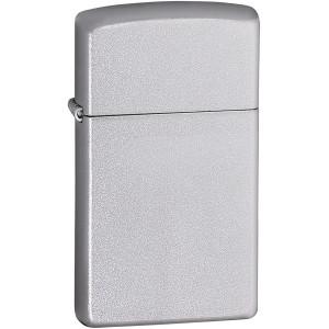 Zippo Slim Satin Chrome Pocket Lighter