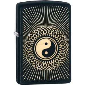 Zippo Yin-Yang Black Matte Pocket Lighter