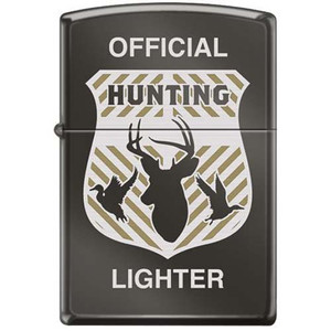 Zippo Official Hunting Badge High Polished Chrome Pocket Lighter