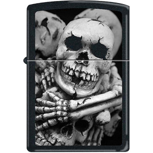 Zippo Till Death Do Us Part Black Matte Pocket Lighter