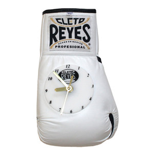 Cleto Reyes 10 oz Authentic Pro Fight Leather Clock Glove - White