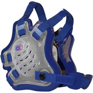 Cliff Keen F5 Tornado Wrestling Headgear - Translucent/Royal Blue/Royal Blue