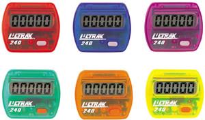 Ultrak 240 - Electronic Step Counter Pedometer - Set of 6