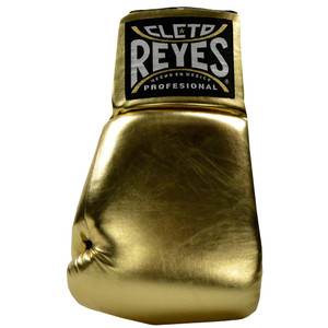 """Cleto Reyes Giant 21"""" Collectible Autograph Boxing Glove - Left Hand - Gold"""