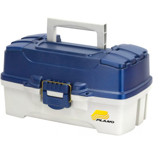 Plano Two Tray Fishing Tackle Box - Model: 6202-06 - Blue/White