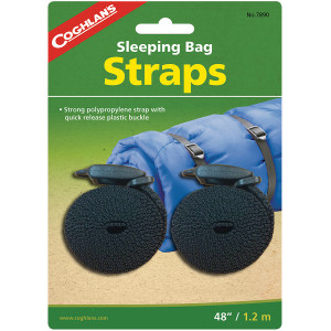 """Coghlan's Sleeping Bag Straps (2 Pack), 48"""" Length with Quick Release Buckle"""