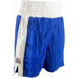 Rival Traditional Cut Dazzle Boxing Trunks - Blue/White