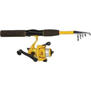 """Eagle Claw Pack-It 5'6"""" Telescopic Fishing Rod/Reel Combo"""