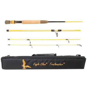 """Eagle Claw 7'6"""" Trailmaster Travel Spin/Fly Fishing Rod"""