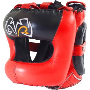 Rival Boxing Guerrero Facesaver Headgear - Red/Black