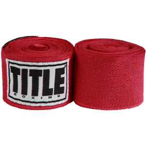 """Title Boxing 180"""" Semi Elastic Mexican Handwraps - Red"""