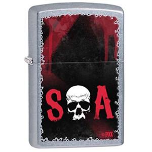 Zippo Sons of Anarchy Skull Street Chrome Pocket Lighter