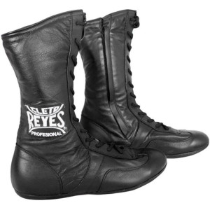Cleto Reyes Leather Lace Up High Top Boxing Shoes - Black