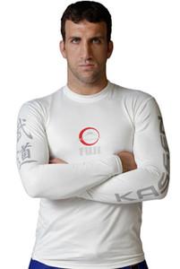 Fuji Kassen Long Sleeve MMA Rashguard - White