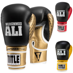 Title Boxing Ali Infused Foam Hook and Loop Training Boxing Gloves