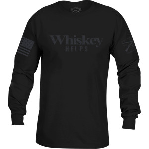 Grunt Style Whiskey Helps Black Label Long Sleeve T-Shirt - Black