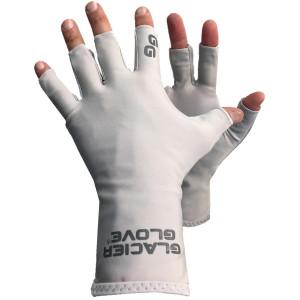 Glacier Glove Abaco Bay Fingerless Sun Gloves - Light Gray