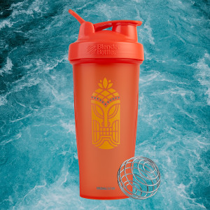 Blender Bottle Special Edition 28 oz Shaker Mixer Cup with Loop Top - Tiki