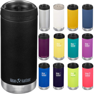 Klean Kanteen 12 oz. TKWide Insulated Stainless Steel Bottle with Cafe Cap
