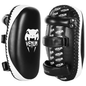 Venum Skintex Leather Light Kick Pad Pair - Black/Ice