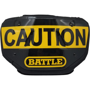 Battle Sports Science Caution Adult Chrome Football Back Plate