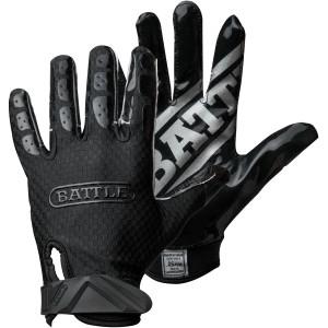 Battle Sports Science Youth TripleThreat UltraTack Football Gloves - Black