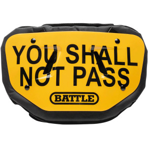 Battle Sports Science You Shall Not Pass Adult Chrome Football Back Plate