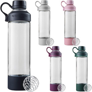 Blender Bottle Mantra 20 oz. Glass Shaker Mixer Cup with Loop Top