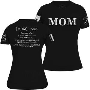 Grunt Style Women's Mom Defined T-Shirt - Black