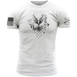Grunt Style Black Eagle T-Shirt - White