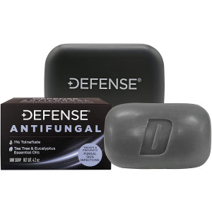 Defense Soap 4 oz. Antifungal Medicated Body Bar Soap with Soap Dish