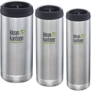 Klean Kanteen TKWide Insulated Bottle with Wide Loop Cap - Brushed Stainless