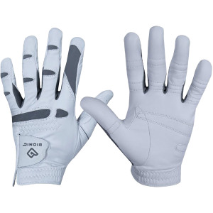 Bionic Men's Left Hand Performance Grip Pro Golf Glove - White