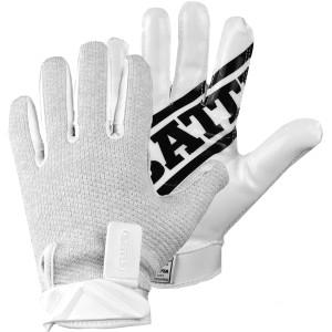 Battle Sports Science Receivers Ultra-Hitch Football Gloves - White