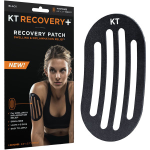 KT Tape Recovery+ Swelling and Inflammation Recovery Patches - Black