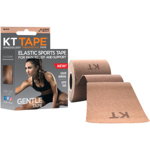 """KT Tape Gentle 10"""" Cotton Precut Kinesiology Therapeutic Sports Roll - Beige"""