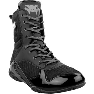 Venum Elite Professional Boxing Shoes - Black/Black