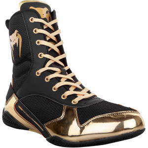 Venum Elite Professional Boxing Shoes - Black/Gold
