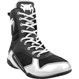 Venum Elite Professional Boxing Shoes - Black/White