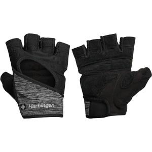 Harbinger Women's FlexFit Weight Lifting Gloves - Black/Gray Heather