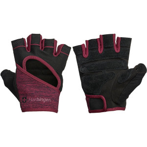 Harbinger Women's FlexFit Weight Lifting Gloves - Black/Merlot