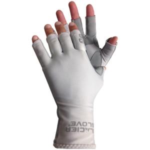 Glacier Glove Islamorada Fingerless Sun Gloves - Light Gray