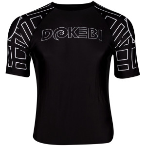 Dokebi Ghost Ranked Short Sleeve BJJ Rashguard - Black